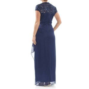 NEW Alex Evenings Navy Mother of Bride Dress NWT